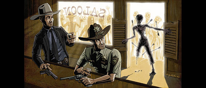 "<span class=""entry-title-primary"">Crime Fighters and Zombies</span> <span class=""entry-subtitle"">A ""Criminal Element"" Mashup in Art</span>"