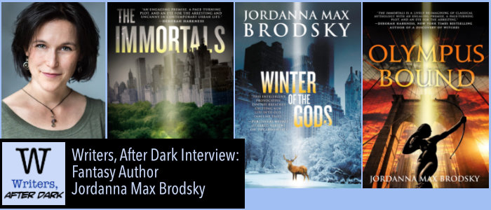 Writers, After Dark #2: Jordanna Max Brodsky The Greek Gods still walk among us, and we can see their footsteps